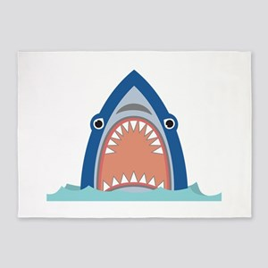 Shark Face 5'x7'Area Rug